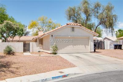 North Las Vegas Single Family Home Under Contract - No Show: 3743 Fountain Court