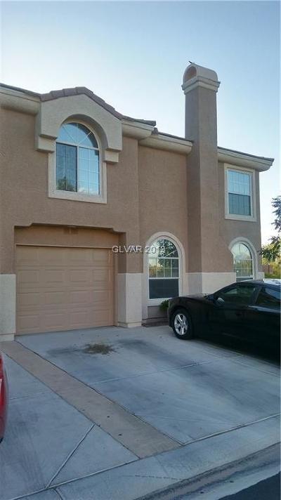 Las Vegas Condo/Townhouse For Sale: 10107 Tree Bark Street