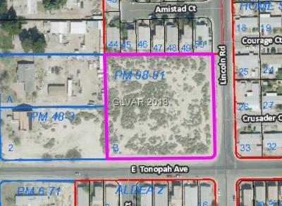 Las Vegas Residential Lots & Land For Sale: Tonopah/Lincoln