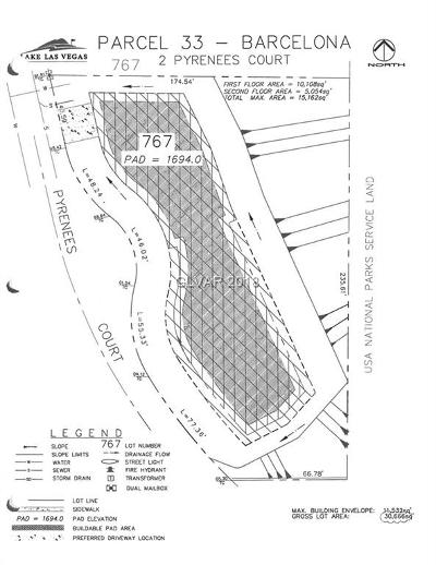 Henderson Residential Lots & Land For Sale: 2 Pyrenees Court