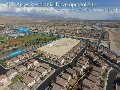 Las Vegas Residential Lots & Land For Sale: El Capitan Way & Maule Ave