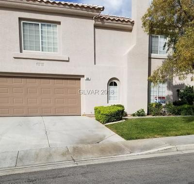 Henderson, Las Vegas Condo/Townhouse For Sale: 506 Recognition Place
