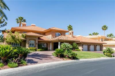 Las Vegas NV Single Family Home For Sale: $1,325,000
