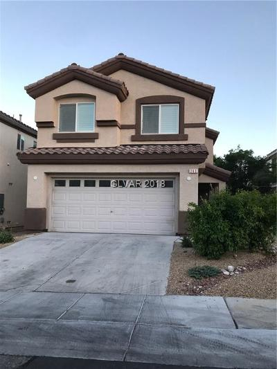Las Vegas Single Family Home For Sale: 263 Tie Breaker Court