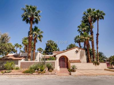 Las Vegas Single Family Home For Sale: 3191 Duneville Street