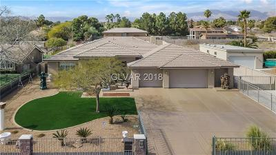 Las Vegas Single Family Home For Sale: 2745 El Camino Road