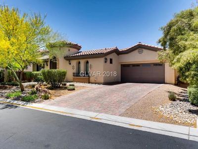 Las Vegas Single Family Home For Sale: 9591 Bella Citta Street