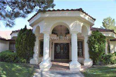 Las Vegas Single Family Home For Sale: 5486 Ukiah Circle