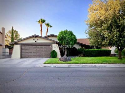 Boulder City Single Family Home For Sale: 894 Dianne Drive
