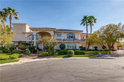The Lakes, Las Vegas, NV, Regency At The Lakes, Regency At The Lakes Unit 2a, Regency At The Lakes Unit 2b Single Family Home For Sale: 10033 Hidden Knoll Court