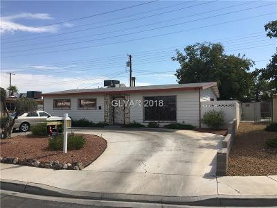 Las Vegas Single Family Home For Sale: 4824 Sheppard Drive