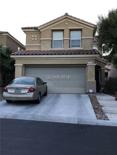 Las Vegas Single Family Home Under Contract - No Show: 523 Teedale Court Court