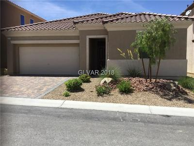Las Vegas Single Family Home Under Contract - No Show: 579 Tour Players Road
