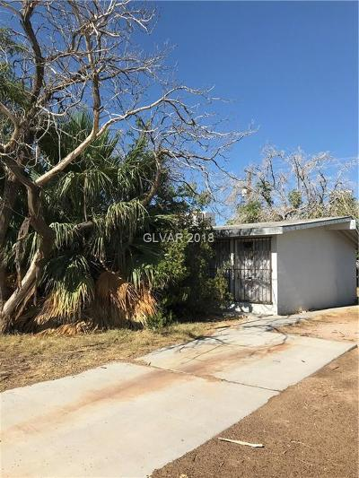 Las Vegas Single Family Home Under Contract - No Show: 1301 James Street