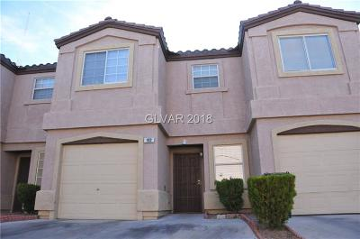 North Las Vegas Condo/Townhouse For Sale: 1921 Summerville Street #102