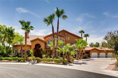 Las Vegas NV Single Family Home For Sale: $1,399,999