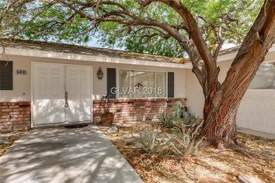 Las Vegas Single Family Home For Sale: 5416 Escondido Street