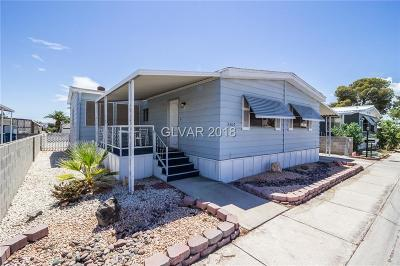 Las Vegas Single Family Home Under Contract - No Show: 3360 Fort Smith Drive