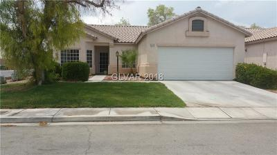 North Las Vegas Single Family Home Under Contract - No Show