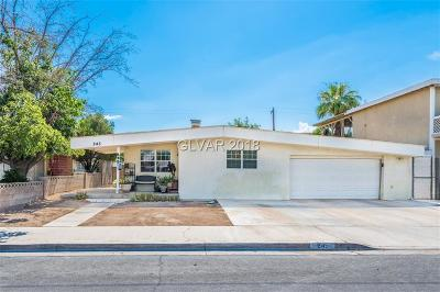 Las Vegas Single Family Home For Sale: 245 Upland Boulevard