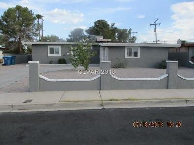 Las Vegas Single Family Home For Sale: 1526 Exley Avenue