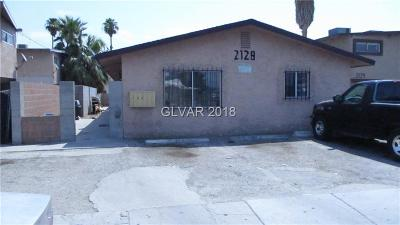 North Las Vegas Multi Family Home For Sale: 2128 Ellis Street
