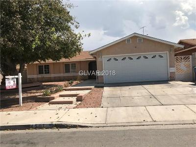 Las Vegas NV Single Family Home Under Contract - No Show: $270,000