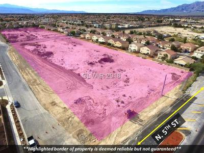 North Las Vegas Residential Lots & Land For Sale: North 5th St./Verde Way