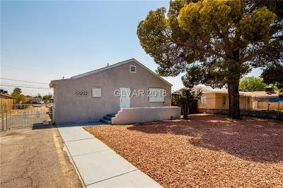 North Las Vegas Single Family Home For Sale: 2226 Ellis Street