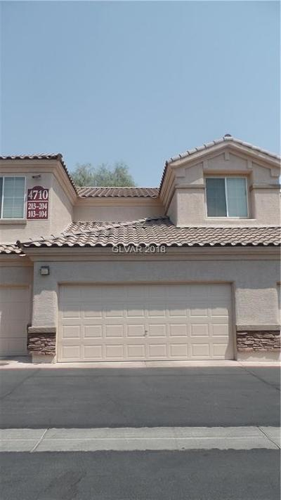 North Las Vegas Condo/Townhouse Under Contract - No Show: 4710 Centisimo Drive #104