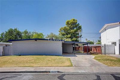 Las Vegas Single Family Home For Sale: 4639 Meredith Avenue