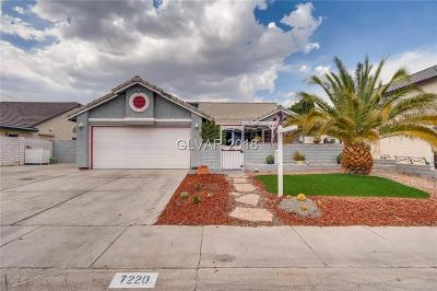 Las Vegas Single Family Home For Sale: 7220 Fury Lane