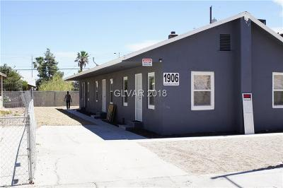 North Las Vegas Multi Family Home For Sale: 1906 Goldfield Street