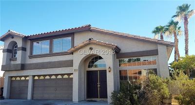 Henderson Single Family Home For Sale: 2816 Via Avanti Street