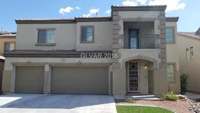 North Las Vegas Single Family Home Under Contract - No Show: 1505 Crystal Rainey Avenue