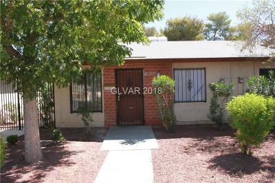 Las Vegas NV Condo/Townhouse For Sale: $109,900