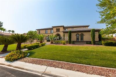 Las Vegas Single Family Home For Sale: 7025 Via Locanda Avenue Avenue