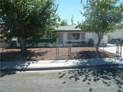 Las Vegas Single Family Home For Sale: 2212 Kirk Avenue