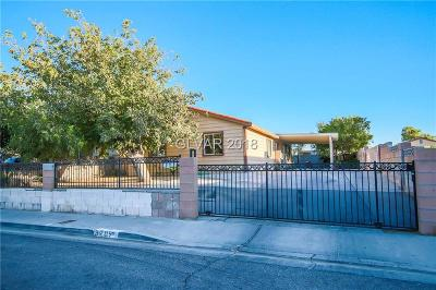 Las Vegas Single Family Home For Sale: 3709 Orr Avenue