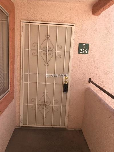 Las Vegas Condo/Townhouse For Sale: 7570 Flamingo Road #226
