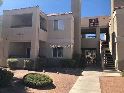 Las Vegas Condo/Townhouse For Sale: 8600 Charleston Boulevard #1109