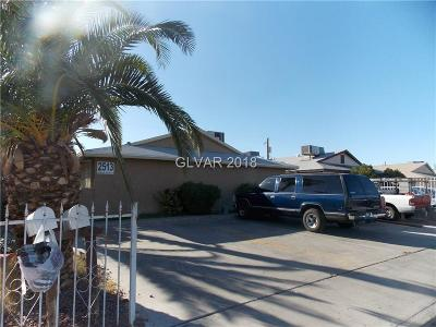 Las Vegas Multi Family Home For Sale: 2513 Spear Street