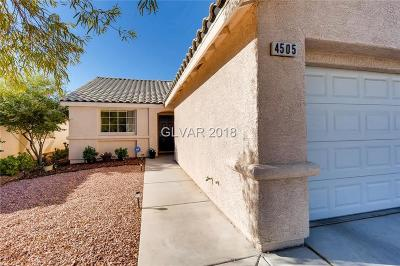 North Las Vegas Single Family Home For Sale: 4505 Ranch Foreman Road