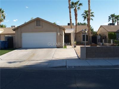 Single Family Home For Sale: 5651 Odessa Drive