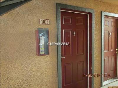 LAS VEGAS Condo/Townhouse For Sale: 2451 Rainbow Boulevard #1013