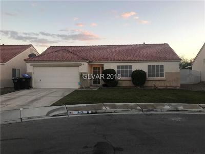 North Las Vegas NV Single Family Home For Sale: $229,995