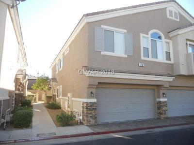 Las Vegas, Henderson Condo/Townhouse For Sale: 1281 Large Cap Drive #3