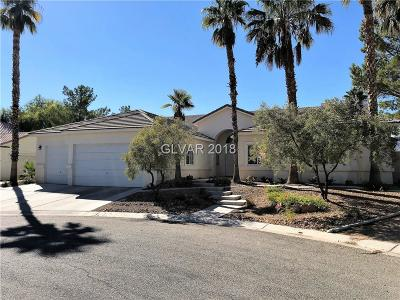 Las Vegas Single Family Home For Sale: 6085 Crystal Brook Court