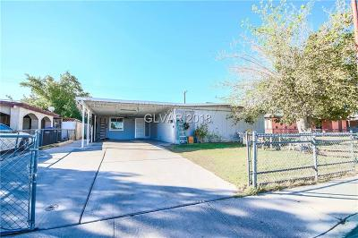 North Las Vegas Single Family Home For Sale: 3521 Reynolds Avenue