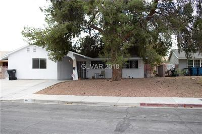 Las Vegas Single Family Home For Sale: 3547 Anthony Drive
